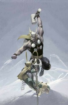 Thor vs Loki by Esad Ribic