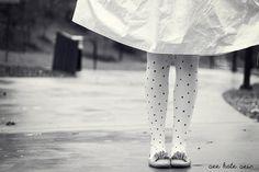 DIY polka dot tights!