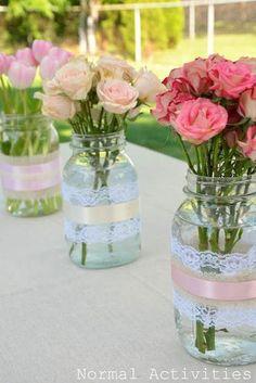 DIY Gartenparty Deko - Blumendeko für Gartenpartys