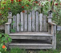 Love this rustic bench