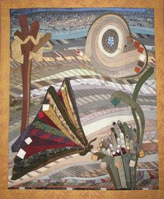 Recycled Ties art quilt by Catherine REGNAUT (France) | Patchwork Europe