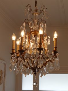 Mid 20th century French cage chandelier