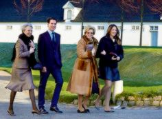 anythingandeverythingroyals: Crown Princely Couple of Denmark hosted a Christmas Party, December 25, 2014-Princess Benedikte with nephew Prince Philippos and sister Queen Anne-Marie with her youngest daughter Princess Theodora