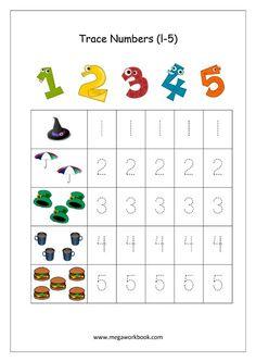 Community Helpers Worksheets, Preschool Number Worksheets, Teaching Numbers, Numbers Kindergarten, Numbers Preschool, Tracing Worksheets, Kindergarten Worksheets, Preschool Kindergarten, Printable Worksheets