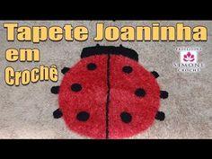 Passo a passo Tapete Joaninha em Crochê - Professora Simone -  /  Step by step Carpet Ladybird Crochet - Professor Simone -