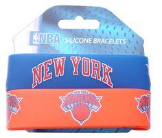 NBA New York Knicks Silicone Rubber Bracelet Set, 2-Pack - http://weheartnyknicks.com/ny-knicks-fan-shop/nba-new-york-knicks-silicone-rubber-bracelet-set-2-pack
