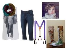 """""""Lauren Joanne Hastings"""" by moon-me-stars ❤ liked on Polyvore featuring Norma Kamali, Artisan Crafted By Democracy and Converse"""