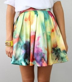 This tie-dye / floral skirt can advance any outfit from a fashion don't, to a fashion do!