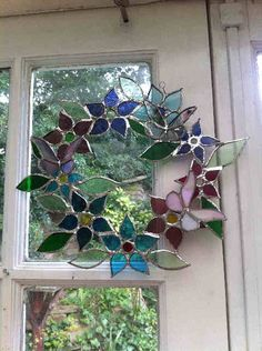 Lucy Bain stained glass wreath