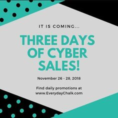 Check out daily Cyber sales on the website today through Wednesday!  www.EverydayChalk.com #EverydayChalk #teamchalkheroes . . . #chalkcouture #chalkboard #chalkboardart #homedecor #diydecor #chalkart #crafty #diy #cybermonday #dailydeals #sassydirect #elitesuite #giftidea #christmasgift #stockingstuffer #crafts #craftswithkids