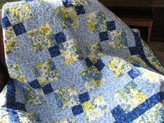 Spring Floral Lap Quilt  Throw  fabric from by PicketFenceFabric, $134.95