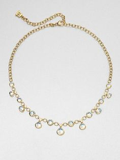 Temple St. Clair  Royal Blue Moonstone & 18K Gold Necklace