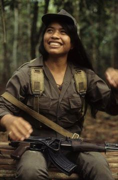 March 8 - International Working Womens Day A woman fighter in the Guerrilla Army of the Poor (EGP), a Marxist-Leninist rebel army that fought the genocidal US-backed military junta of Guatemala from the early 1970s to the mid-1990s.
