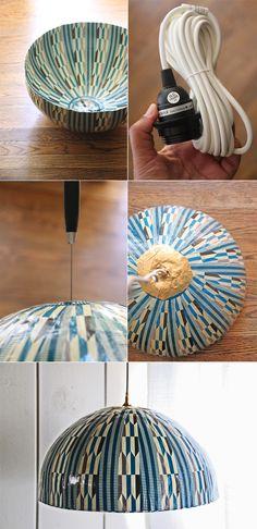 bowl=lámpara bowl de papel maché