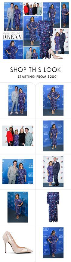 """2017 NBC Universal Upfront Presentation~ America Ferrera"" by snugget9530 ❤ liked on Polyvore featuring Saloni"