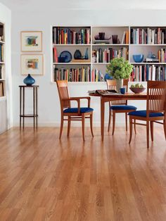 Today's laminate floors offer the look of real wood with easy installation.