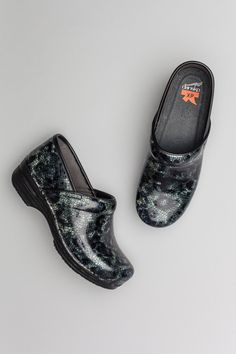 The Dansko Blue Crackle Patent from the Pro XP collection.