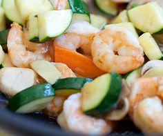 Larry's Shrimp, Zucchini & Squash #lemonade #shrimp