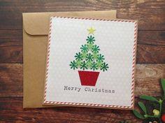 Christmas cards, Handmade christmas card, homemade cards, Homemade Christmas card by PinkyPromiseBargains on Etsy