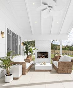 Patio Addition Inspiration - McKenna Bleu Outdoor Sofa, Outdoor Spaces, Outdoor Living, Outdoor Decor, Porches, Modern Coastal, Decoration, Living Spaces, Furniture Design