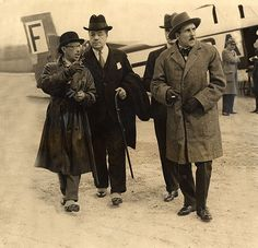 Igor Stravinsky, far left, and Serge Diaghilev (with cane) in the early 1920s.