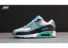Nike Wmns Air Max 90 Essential Light Base Grey Diffused Jade Atomic