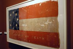 Confederate flag from Florida, which played a key role as a supplier, displayed at the Richmond, VA: Museum of the Confederacy & the Southern White House.