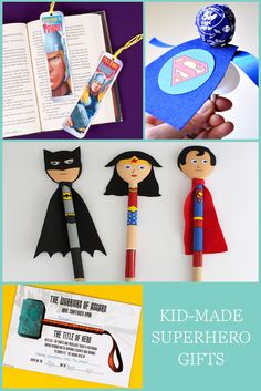 Is there anything cooler than an awesome cape-wearing, civilian-saving superhero? Well, possibly the actual hero in your life: your hubby. Show him how much of a hero he really is with these simple kid-made Father's Day gifts. These easy superhero crafts range from paper plate masks to spoon puppets to Marvel printables that you can make with the kids! Click for all the DIY gift ideas!