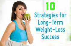 10 Best Strategies for Long-Term Weight Loss Success: Get off the diet roller coaster for good! Don't just lose weight for a little while: Keep it off for the long-term with these smart tips. | via @SparkPeople #RockYourResolution #diet #motivation