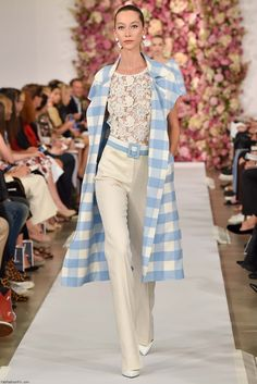 52d8af6b7ca3 Alana Zimmer for Oscar de la Renta spring summer 2015 collection - New York  fashion
