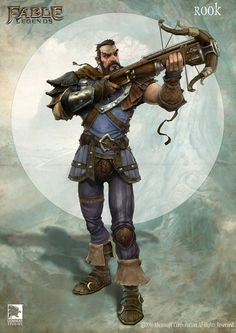 Rook, Fable Legends Hero by Mike McCarthy. High Fantasy, Fantasy Rpg, Medieval Fantasy, Fantasy Character Design, Character Concept, Character Art, Concept Art, Archer Characters, Fantasy Characters