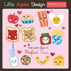 Perfect Match ClipArt / You're the Peanut Butter to My Jelly Clip Art / Valentine Clip Art / Love Clipart / Milk to my Cookie clipart