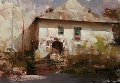 """Remnant from a Bygone Era"" by Tibor Nagy, Oil on linen ~ 11"" x 16"""