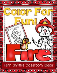 Fire Prevention and Safety Fun! Color For Fun Printable Coloring Pages coloring pages equals less than 10 cents a page. Fall Coloring Pages, Printable Coloring Pages, Coloring Books, Coloring Sheets, Adult Coloring, Free Math Apps, Fire Safety Week, Fire Prevention Week, Fire Badge