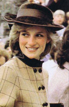 Diana Frances: Diana weering a checked woolen coat dress by designer Arabella Pollen.