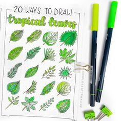 How to draw easy and amazing bullet journal doodles! how to doodle tutorials including flower doodles, animal doodles and much more! Bullet Journal Leaves, Bullet Journal 2019, Bullet Journal Spread, Bullet Journal Layout, Bullet Journal Inspiration, Journal Ideas, Bullet Journals, Art Journals, Leaves Doodle