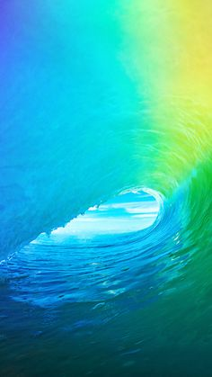 Apple Wave Rainbow Sea Ocean #iPhone #7 #wallpaper