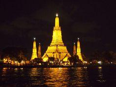 Wat Arun bei Nacht, Bangkok
