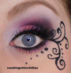 Pink, purple & black goth eye