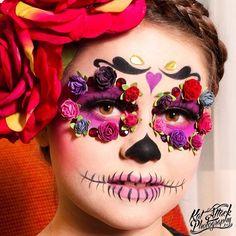 "#sugarskull makeup by @malicious_makeup ❤️ #dayofthedead #diadelosmuertos…"""