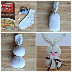 How to make the easiest no sew sock bunny! Use materials you have at home to make this 5 minute craft. This DIY Easter bunny craft is tons of fun for kids, for adults and seniors. It's easy and involves NO sewing. Easter Crafts For Toddlers, Spring Crafts For Kids, Easter Crafts For Kids, Diy Kids Crafts, At Home Crafts For Kids, Jar Crafts, Recycled Crafts, Summer Crafts, Preschool Crafts