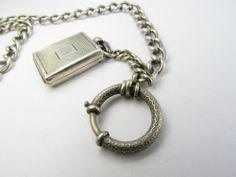 Silber 800 Uhrenkette, Charivarikette, Erbskette mit MEDAILLON ANHÄNGER !   eBay