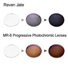 ad5b0c05065fa MR-8 Photochromic Digital Free Form Progressive Prescription Optical Lenses  With Fast Color Changing Performance