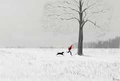 Clearing my head. #pascalcampion#running #snow #dog 2015