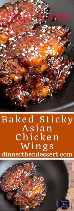 Sticky Asian chicken wings made with a hoisin take on a…