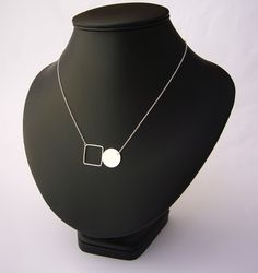 Circle disk & square necklace £24.00