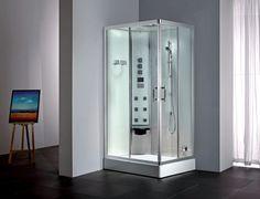 Cabine de Banho com Sauna Cielo = Versão abertura da porta para a esquerda!  www.uniquespa.com.br