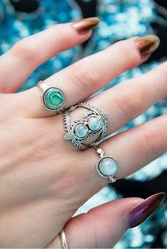 ➳ Double Ora Rainbow Moonstone Ring ➳ boholake // mystic // rings // jewellery // jewelry // sterling silver // boho // bohemian // jewels // hippie // gypsy www.boholake.co.uk