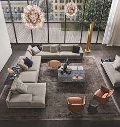 Living in an apartment, or in an older home with tiny rooms, can present a challenge: how to make your limited space seem larger. Try these 80 Stunning Modern Apartment Living Room Decor Ideas And Remodel. Living Room Sofa, Living Room Interior, Home Living Room, Apartment Living, Living Room Designs, Living Room Decor, Divani Living, Luxury Living Rooms, Living Room Zones