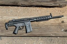 PTR Industries PTR-91    U.S made clone of the German H&K 91. Chambered in .308 Winchester, this example is an older rifle since the rollmarks indicate production in Connecticut. PTR moved their operations and production to South Carolina after their original home state became increasingly anti-gun following the Sandy Hook shooting.